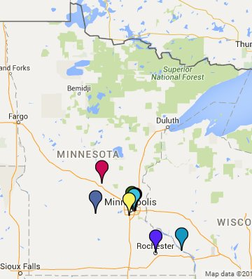 Minnesota State of the State locations